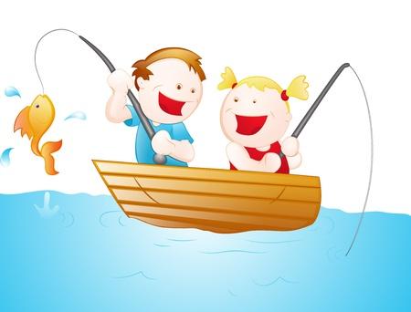 Cartoon Fisher Kids