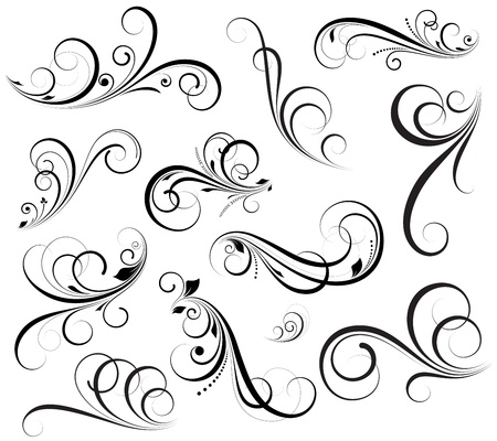 Illustration pour Swirls Vectors - image libre de droit