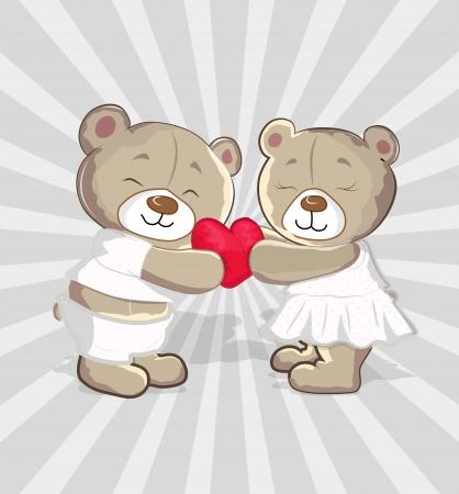 Cute Bears Vector Cartoon