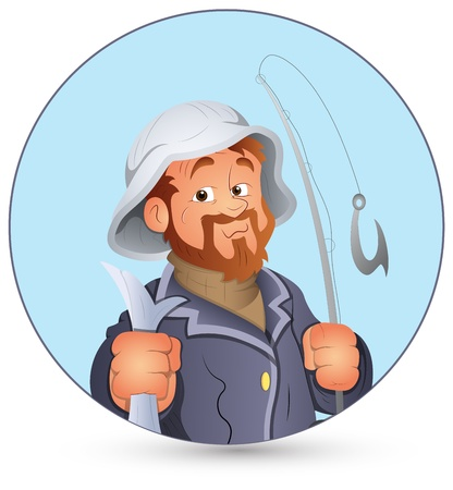Retro Fisherman  Illustration
