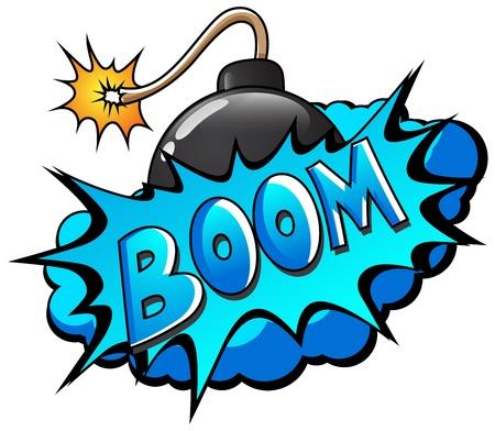 Boom - Comic Blast Expression  Text