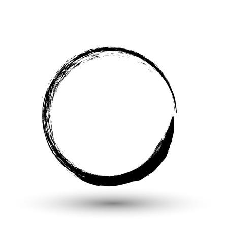 Illustration pour Grunge Circle Frame - image libre de droit