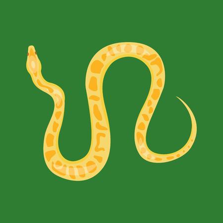 Illustration pour Snake reptile cartoon vector - image libre de droit