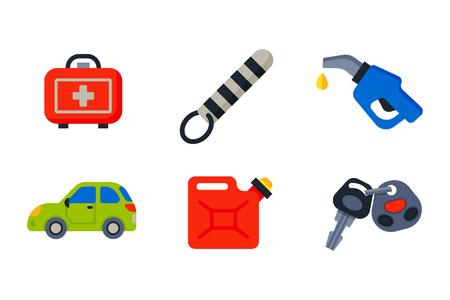 Auto transport motorist icons symbols change vehicle automobile