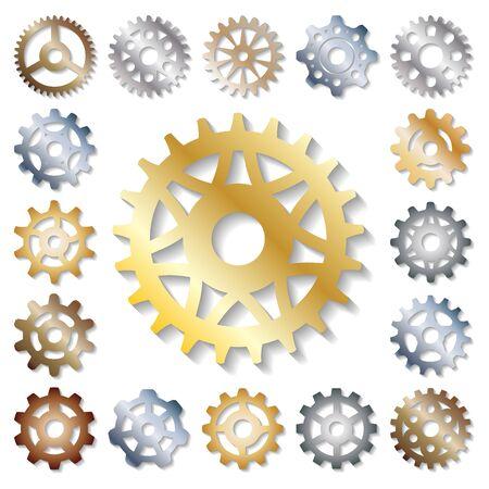 Photo pour Gear  mechanics gearing web development shape work cog engine wheel equipment machinery element - image libre de droit