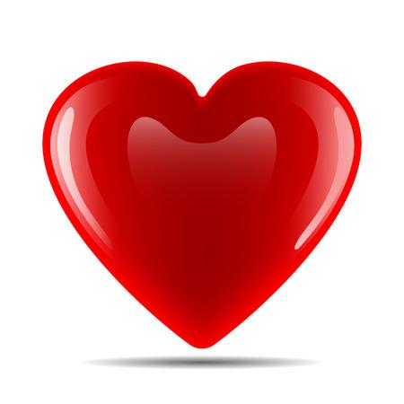 Illustration pour Vector image of a heart on a white background - image libre de droit