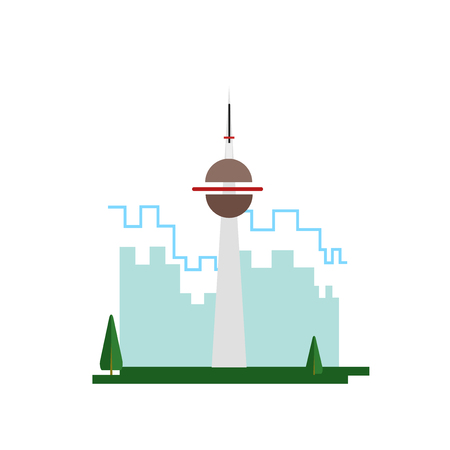 Ilustración de Cn tower icon vector isolated on white background for your web and mobile app design, Cn tower logo concept - Imagen libre de derechos
