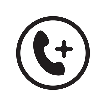 Add call icon vector isolated on white background for your web and mobile app design, Add call logo concept