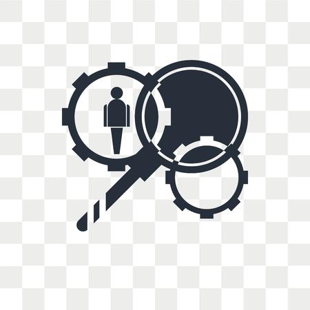 Illustration pour HR Services vector icon isolated on transparent background, HR Services logo concept - image libre de droit