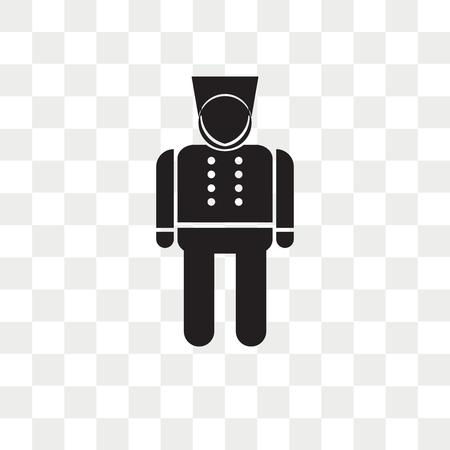 Illustration pour Bellhop vector icon isolated on transparent background, Bellhop logo concept - image libre de droit