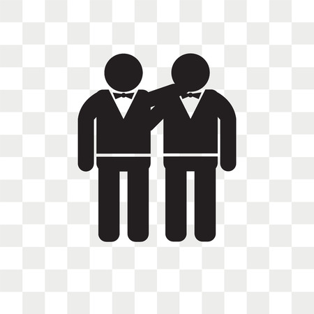 Illustration pour Man Hugging vector icon isolated on transparent background, Man Hugging logo concept - image libre de droit