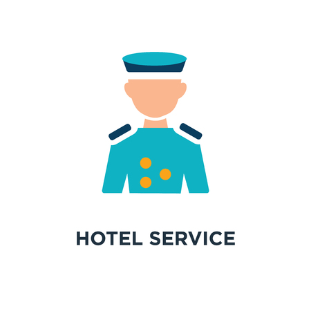 Illustration pour hotel service concept represented by bellboy icon. and flat concept symbol design, vector illustration - image libre de droit