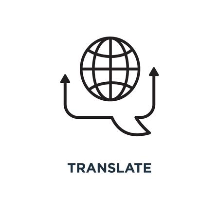 Illustration pour translate icon. translate concept symbol design, vector illustration - image libre de droit