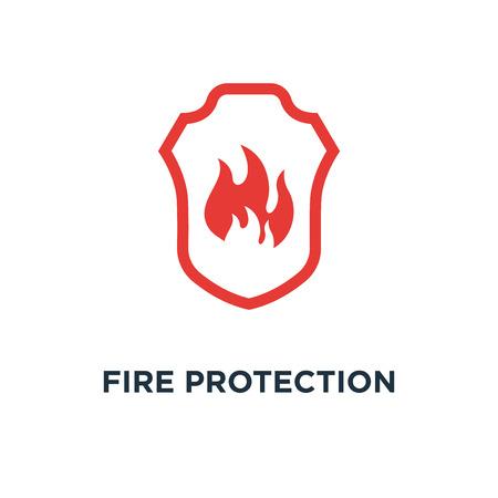 Illustration pour fire protection icon. fire protection concept symbol design, vector illustration - image libre de droit