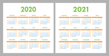 Calendar 2020, 2021. Square vector calender design ...