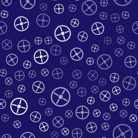 Illustration pour White Industry valve icon isolated seamless pattern on blue background. Vector Illustration - image libre de droit