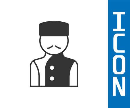 Illustration pour Grey Concierge icon isolated on white background. Vector - image libre de droit