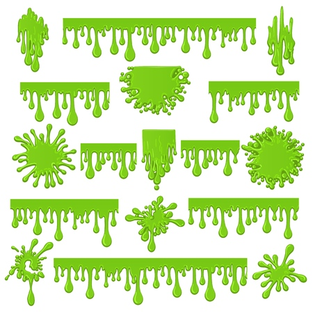 Green slime: Royalty-free vector graphics