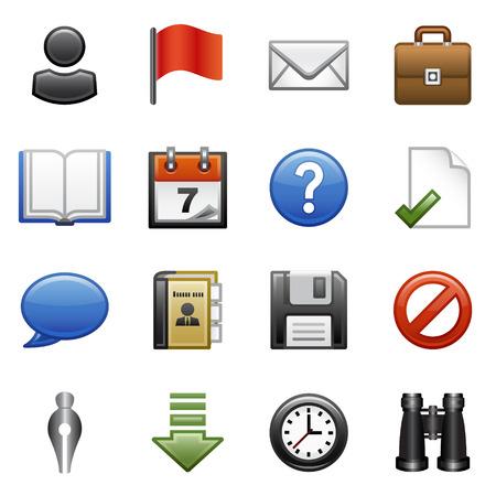 Stylized icons set