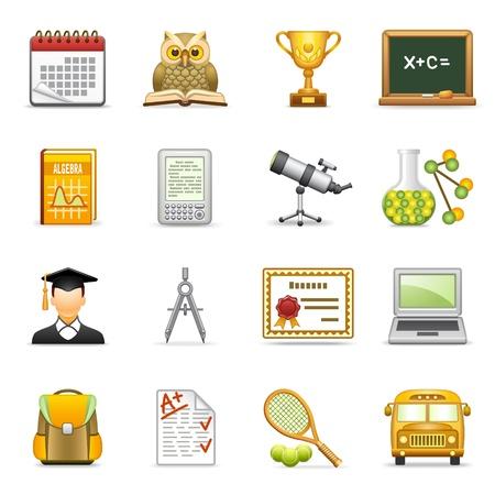Education icons.