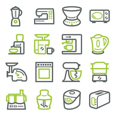 Kitchen electric appliances.