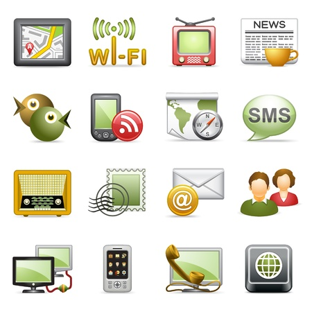 Photo for Communication icons. - Royalty Free Image