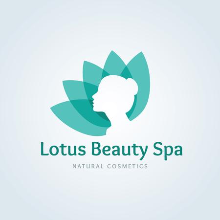 Illustration for Lotus beauty spa logo,Lotus  logo,vector logo template - Royalty Free Image