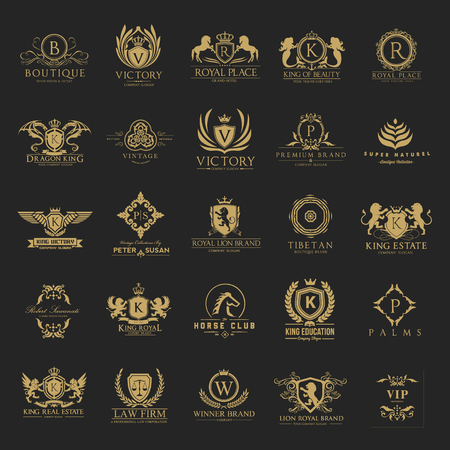 Ilustración de Luxury crests and Hotel logo collection - Imagen libre de derechos