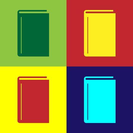 Illustration pour Color Book icon isolated on color background. Vector Illustration - image libre de droit