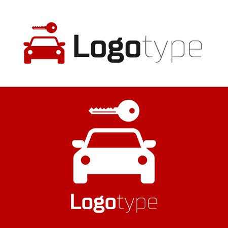 Red Car Rental Icon Isolated On White Background Rent A Car Sign Key With Car Concept For Automobile Repair Service Spare Parts Store Logo Design Template Element Vector Illustration Royalty Free Vector Graphics