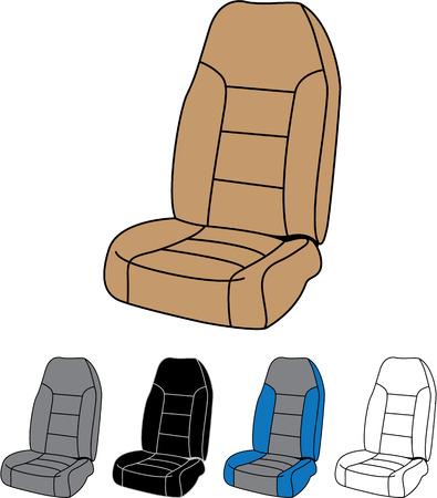 Illustration pour Front car seat vector image clip-art file - image libre de droit