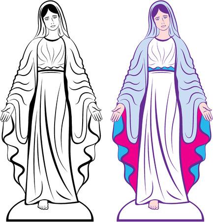 Illustration pour Godmother catholic sculpture vector clip-art image - image libre de droit
