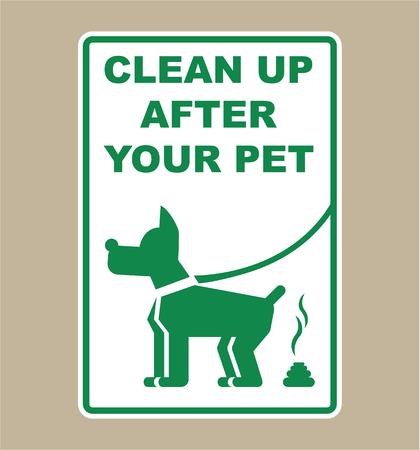 Illustration pour Clean up after your pet sign vector illustration clip-art image - image libre de droit