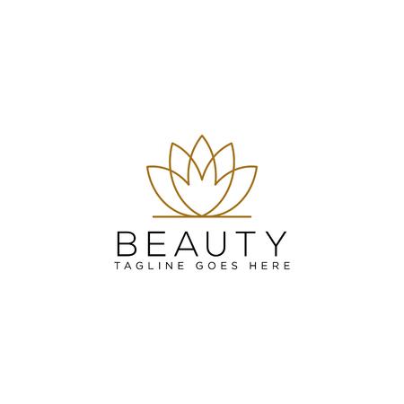Ilustración de beauty cosmetic line art logo template vector illustration icon element isolated - vector - Imagen libre de derechos