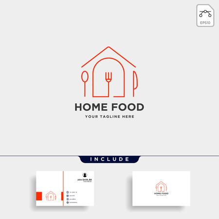 Illustration pour city food equipment simple flat logo design vector - image libre de droit