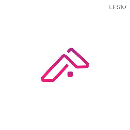 Ilustración de simple home logo or icon symbol vector isolated - vector - Imagen libre de derechos