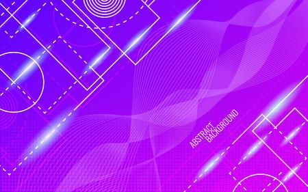 Illustration pour Abstract background. Dynamic glowing shapes. Trendy design. Bright color backdrop. Random lines composition. Vector illustration. - image libre de droit