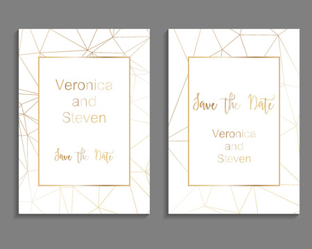 Illustration pour Set of luxury cover templates. Vector cover design for wedding invintation, placards, banners, flyers, presentations and business cards - image libre de droit