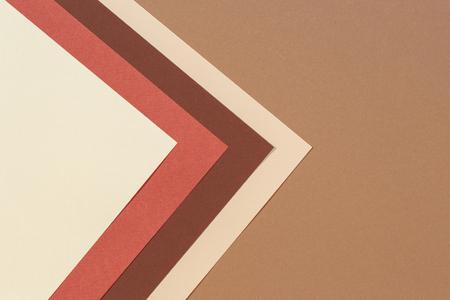 Photo pour Abstract geometric paper texture cardboard background. Beige, brown yellow pastel trendy colors - image libre de droit
