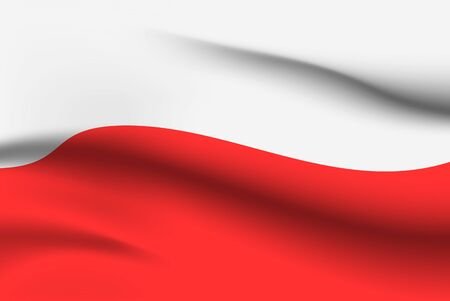 Illustration for World flags. Country national flag background. Poland. Vector illustration - Royalty Free Image