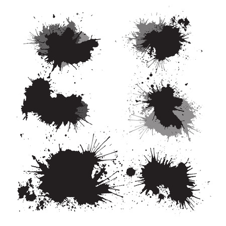 Set of ink splashes for your design