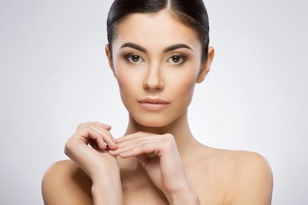 Photo pour Model with ponytail - image libre de droit