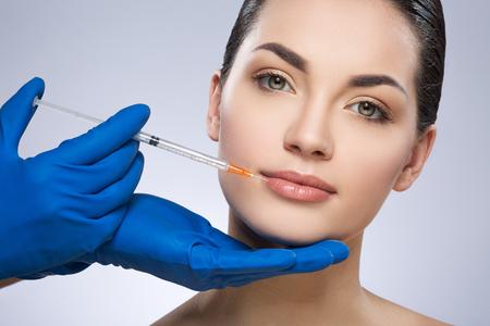 Foto de Young woman having plastic operation - Imagen libre de derechos