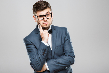 Photo for Thoughtful man in glasses - Royalty Free Image