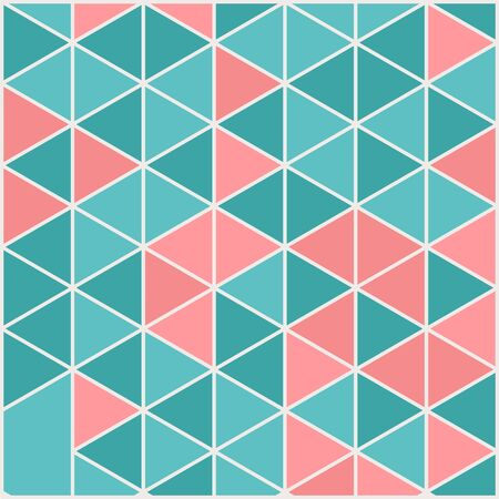 Illustration for Vector template square cards made of triangles. - Royalty Free Image