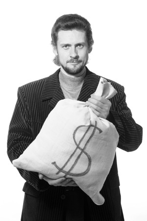 An image of a young man with a bag