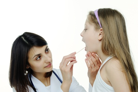 An image of doctor looking at a child's tonsils
