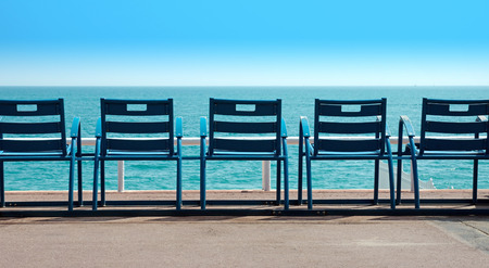 Deck Chairs in front of the sea