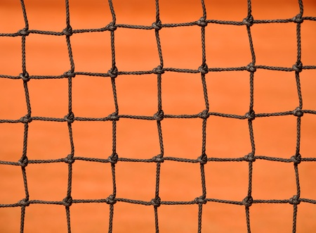 Close up details of a tennis net