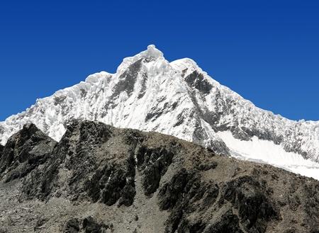 A summit in the Cordillera Blanca - Mountain Pisco , Peru